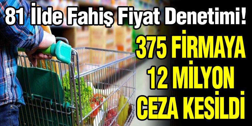 375 Firmaya 12 Milyon TL Ceza