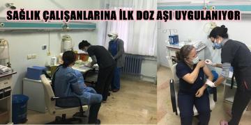 AKÇAKOCA'DA COVİD -19 AŞILAMASI BAŞLADI
