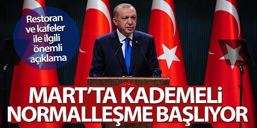 Erdoğan: Mart ayında kademeli normalleşme başlıyor
